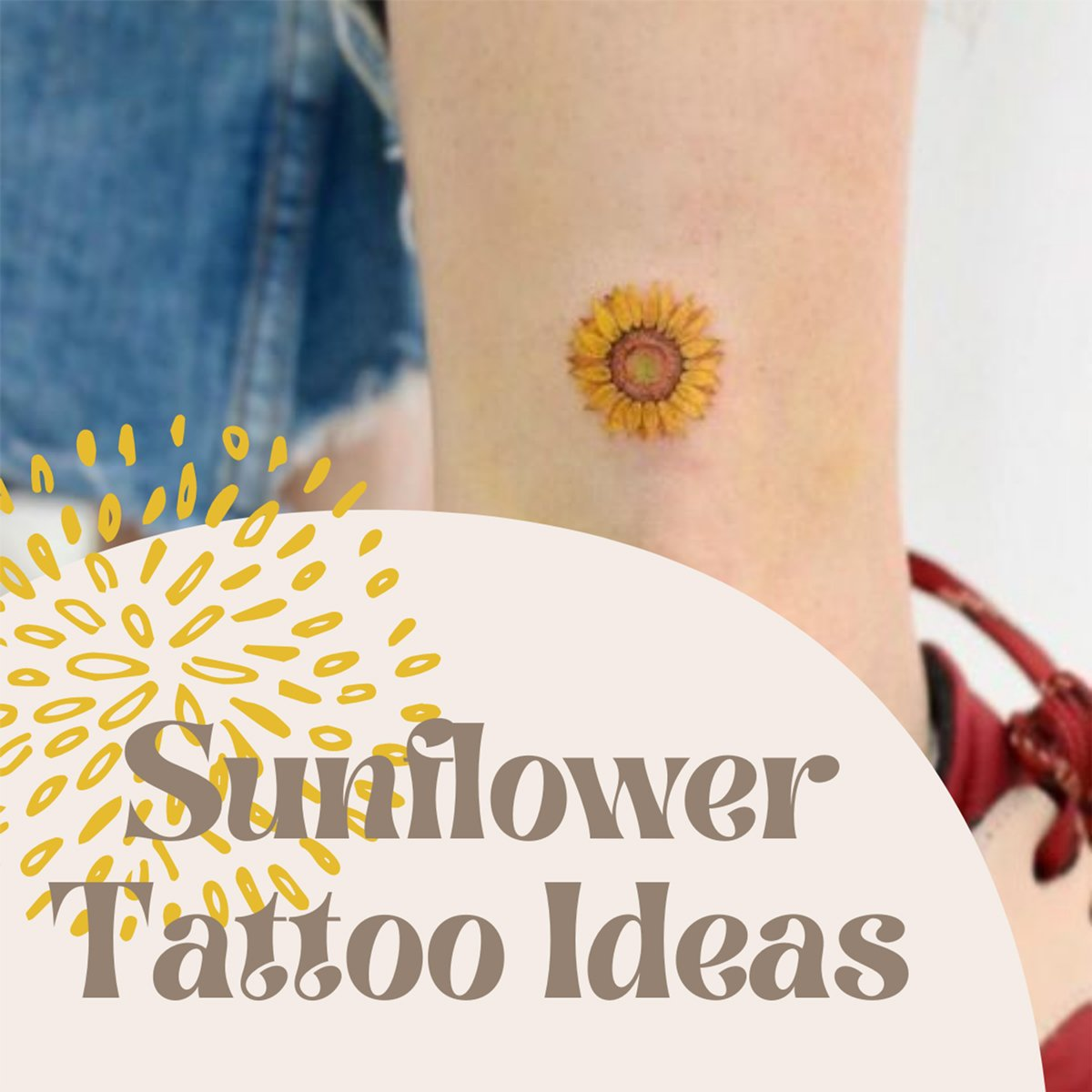 Small Sunflower Tattoo Ideas