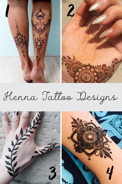 Black Henna Tattoo Ideas