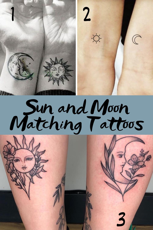Sun and Moon Matching Tattoo ideas