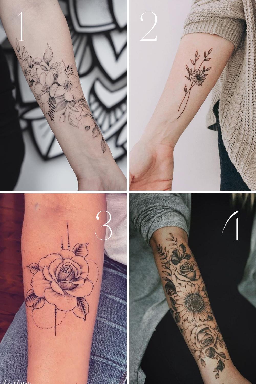 Perfect Flower Forearm Tattoo Ideas for Women   TattooGlee
