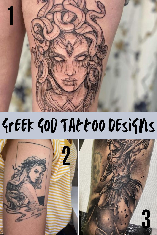 Powerful Woman Greek God Tattoos