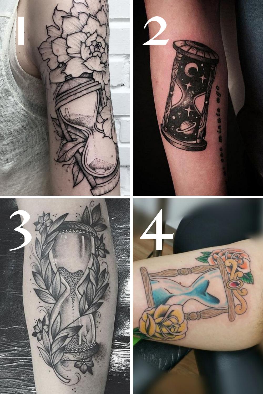 Tattoo Sleeve Hourglass Tattoos