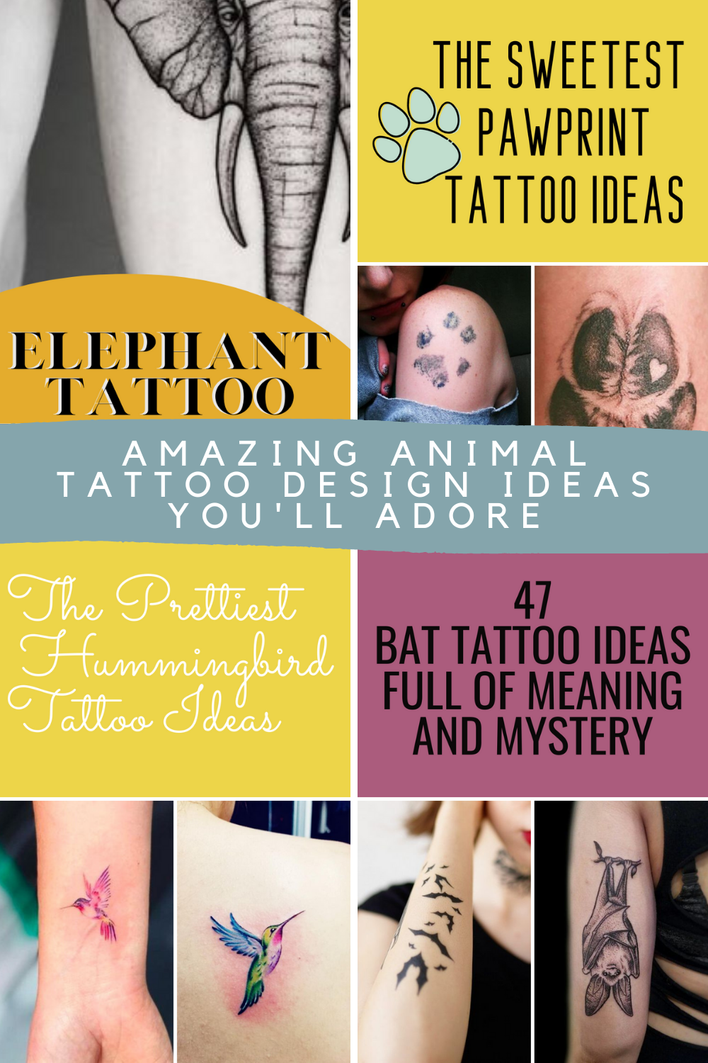 Animal Tattoos Meanings & Designs