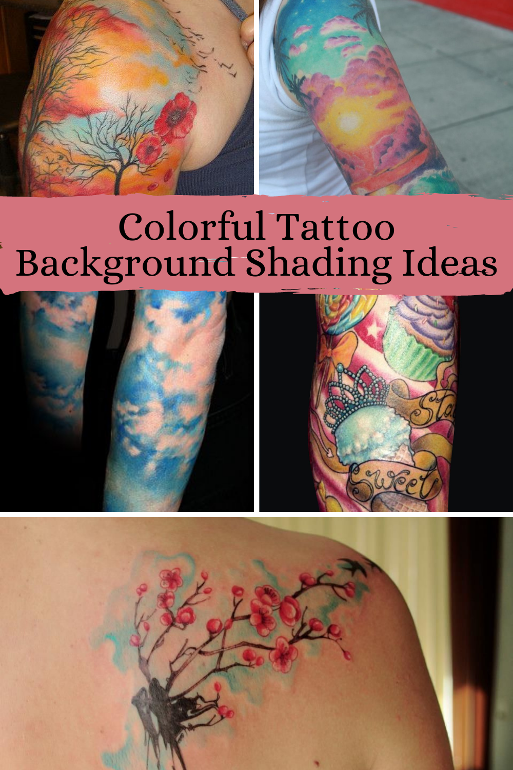 Shading Ideas for tattoos with color