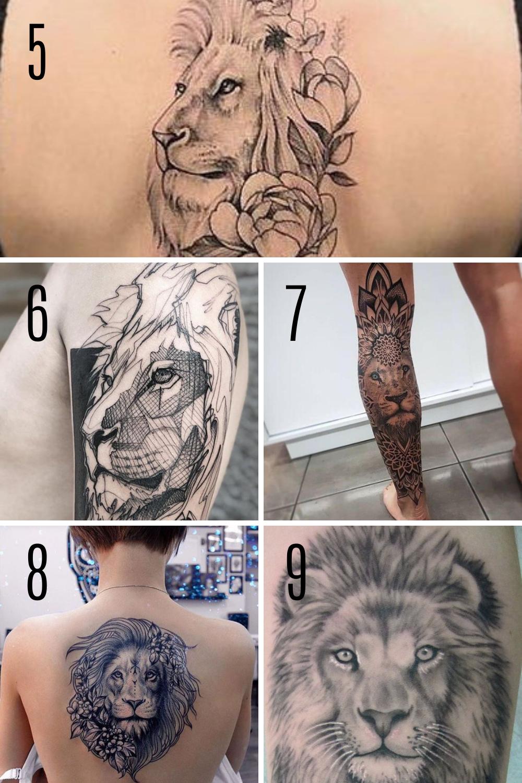 Fierce Tattoo Designs of Lions