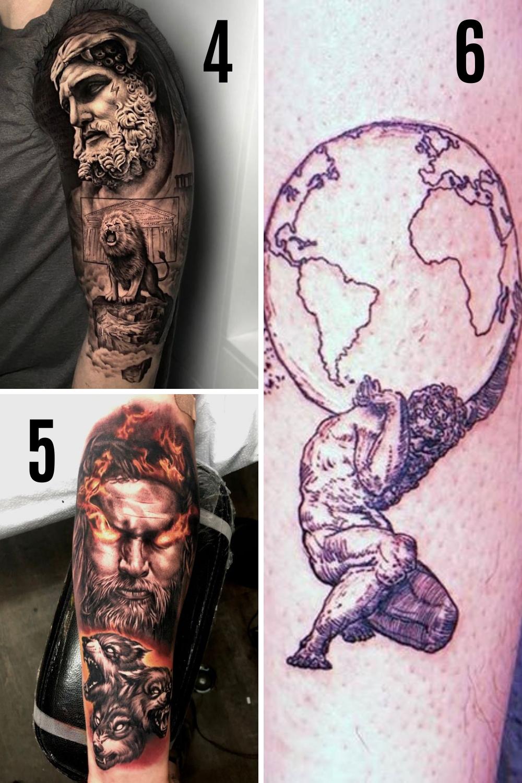 Ancient Greek God Tattoos