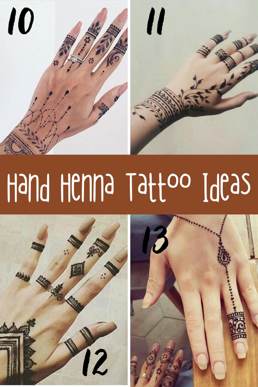 Hand Henna Tattoo Designs