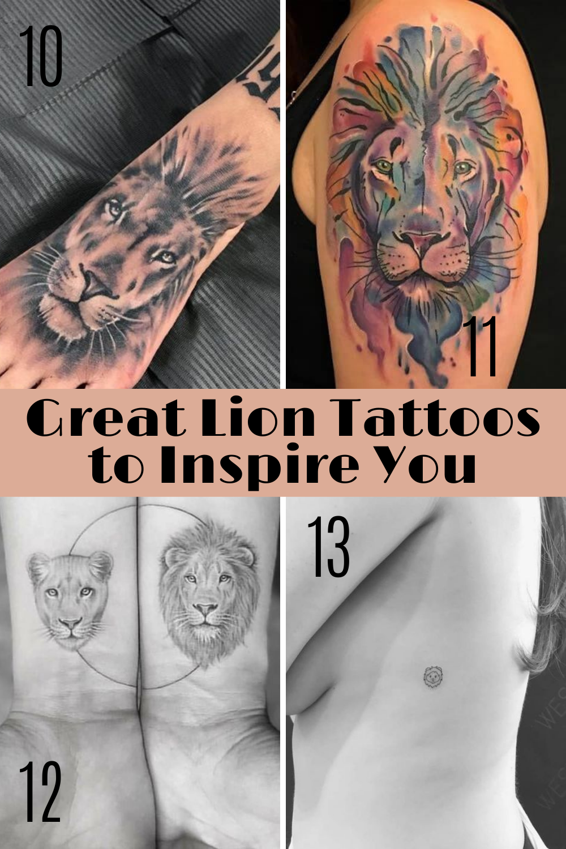 Creative Lion Tattos
