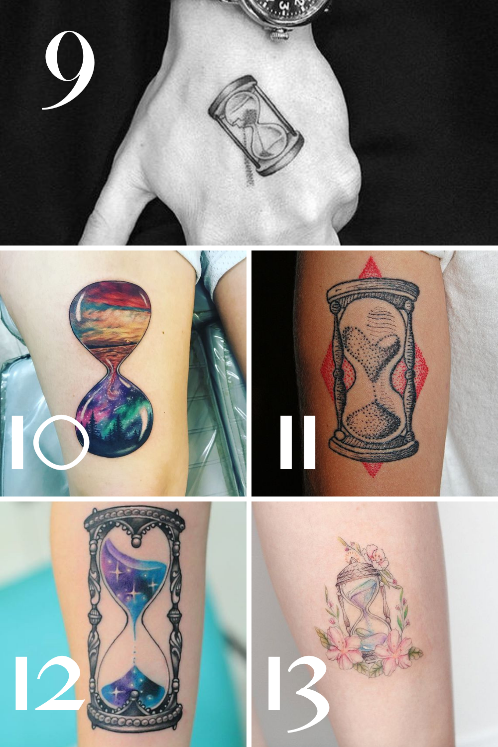 Creative Clock Tattoos for Marking Time