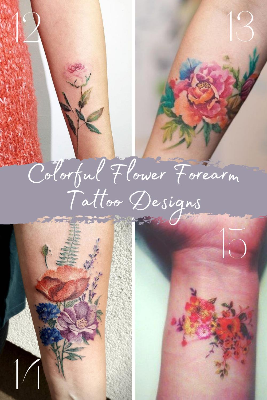 Flower Forearm Tattoo Ideas for Women's Sleeves