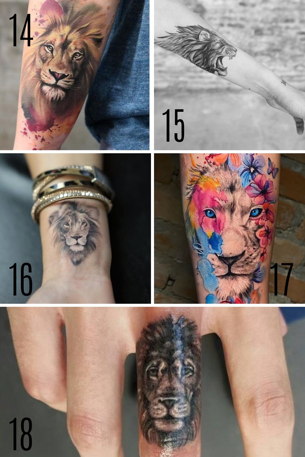 Lion Tattoo designs & ideas for sleeves