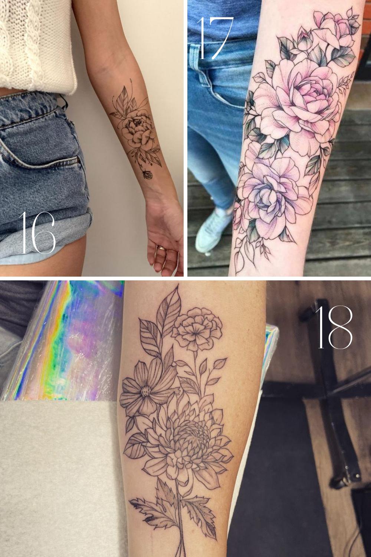 Half Sleeve Tattoos for Women Florals