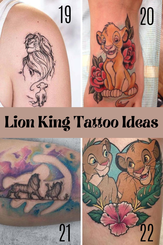 Lion King Tattoos Inspiration