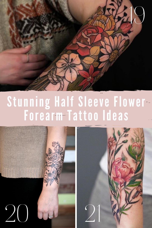 Floral Forearm Tattoo Ideas