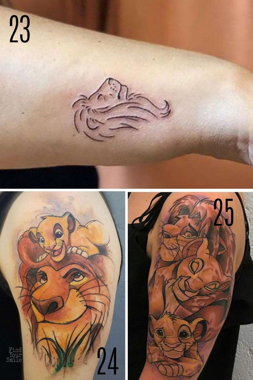 Lion King Disney Tattoo Ideas