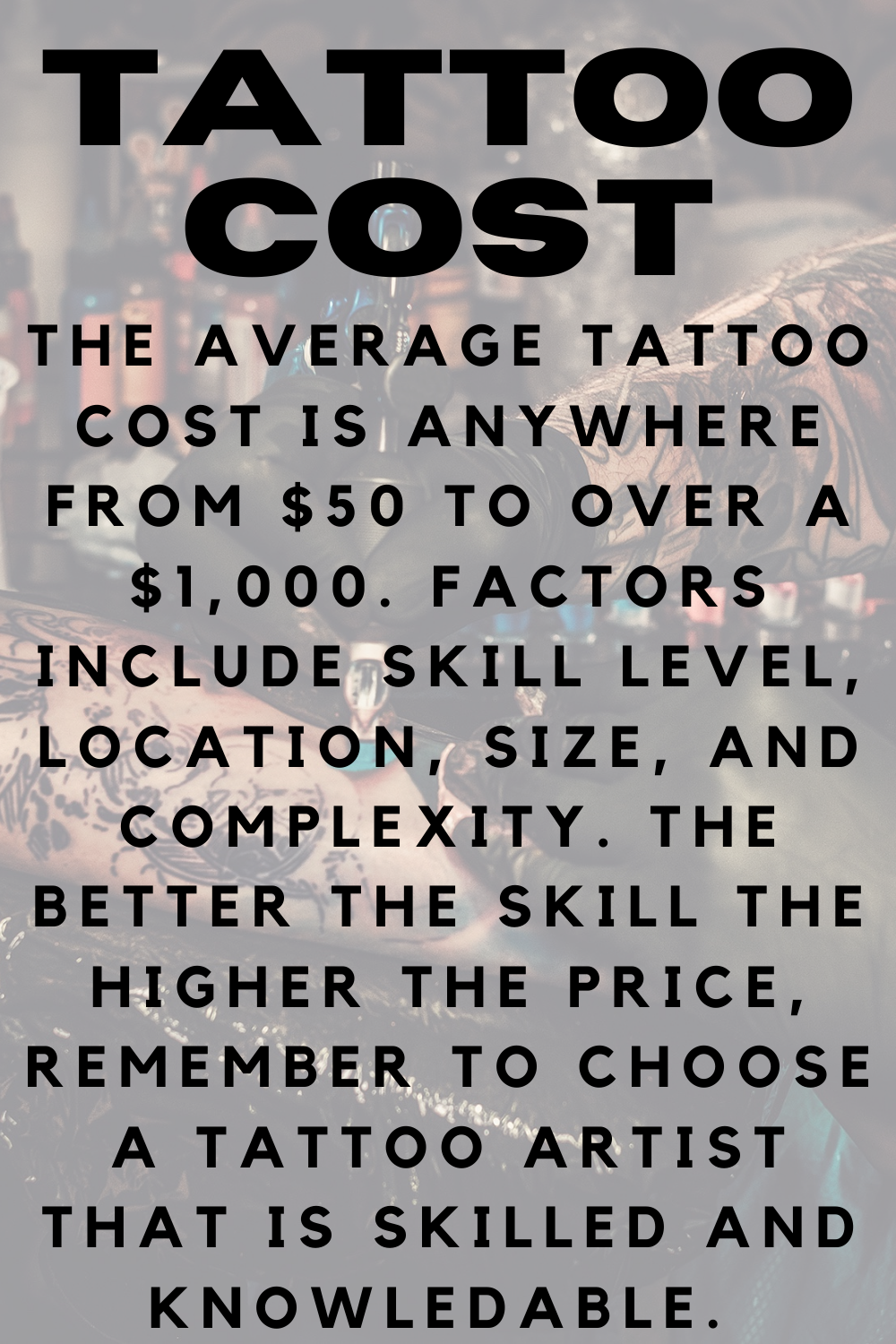 What Is The Average Tattoo Cost