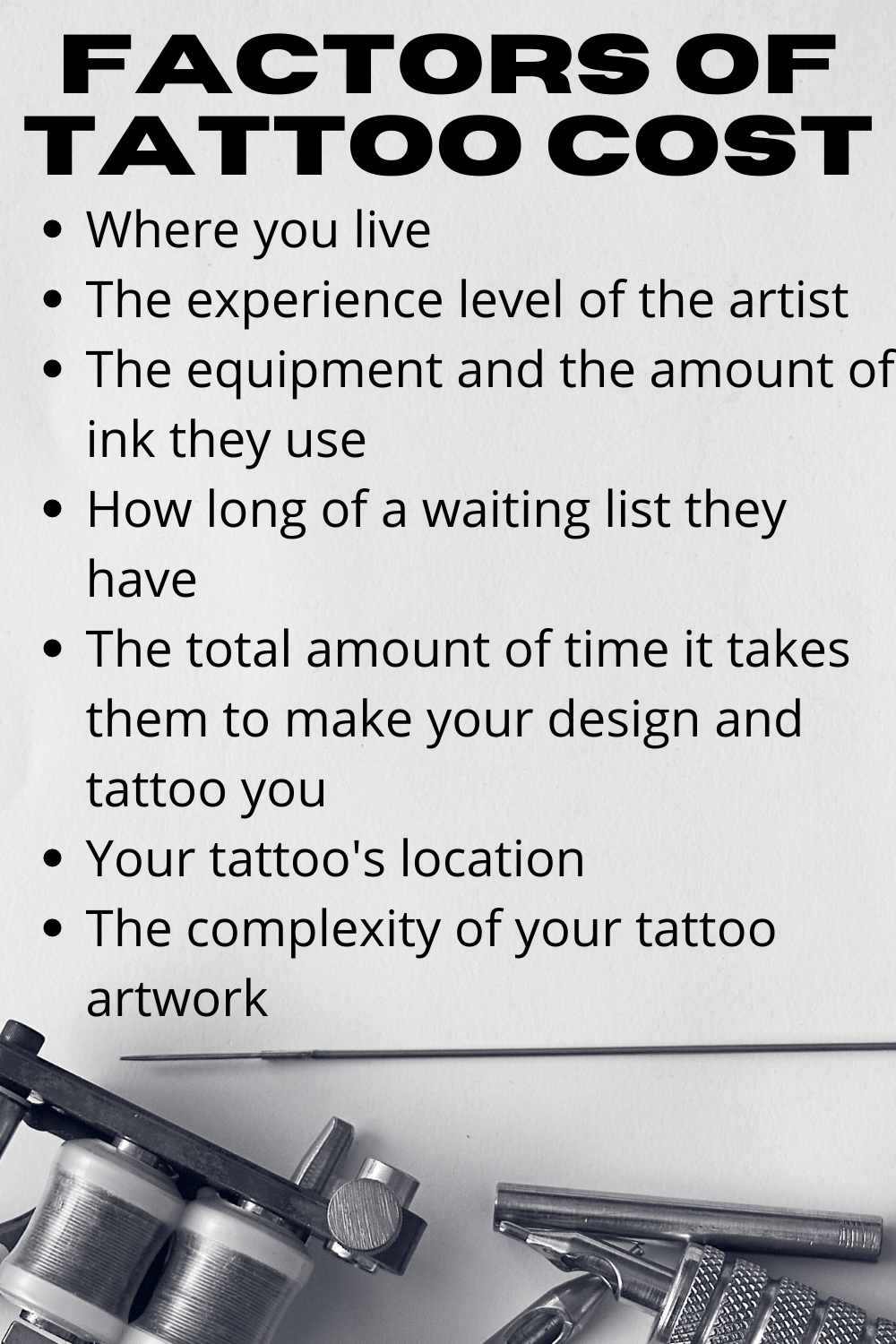 Factors of Tattoo Cost For New Tattoos
