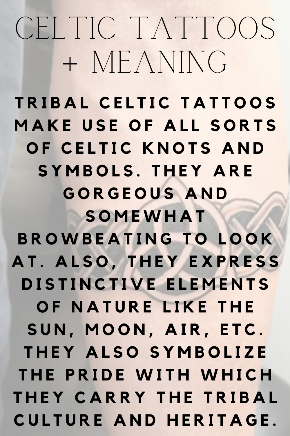 Celtic Tattoos Meaning