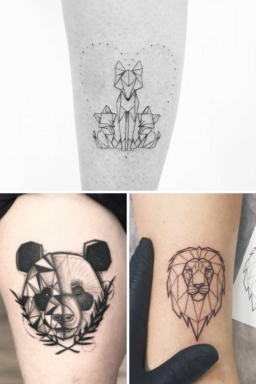 Black & Grey Animal Tattoos