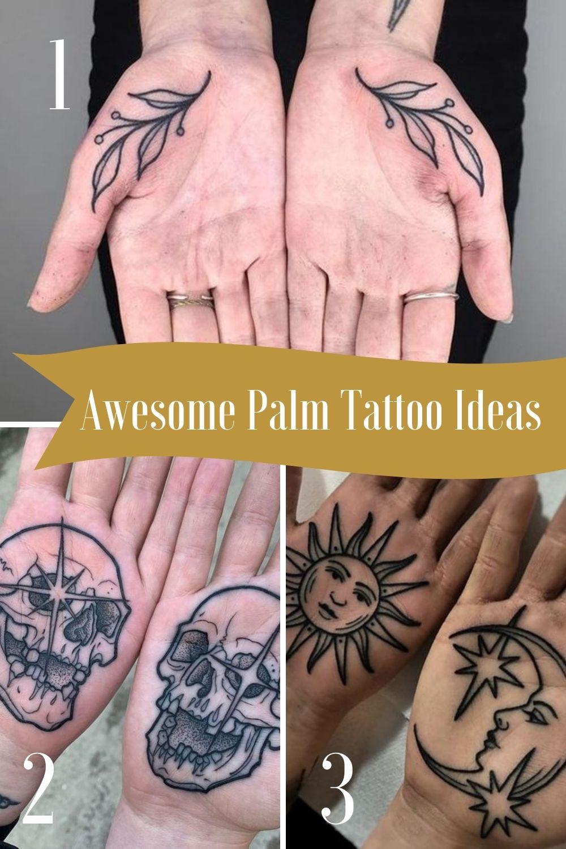 Matching Palm tattoo ideas