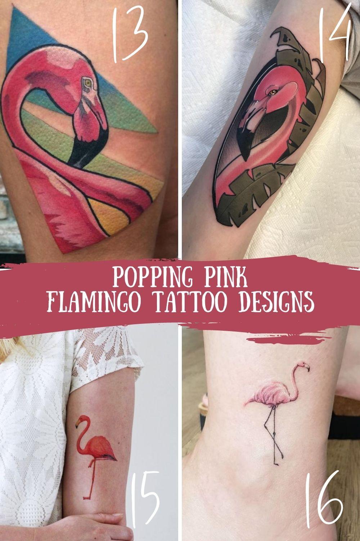 Pink Flamingo Tattoo Designs