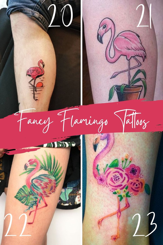 Fancy Flamingo Tattoo Inspiration