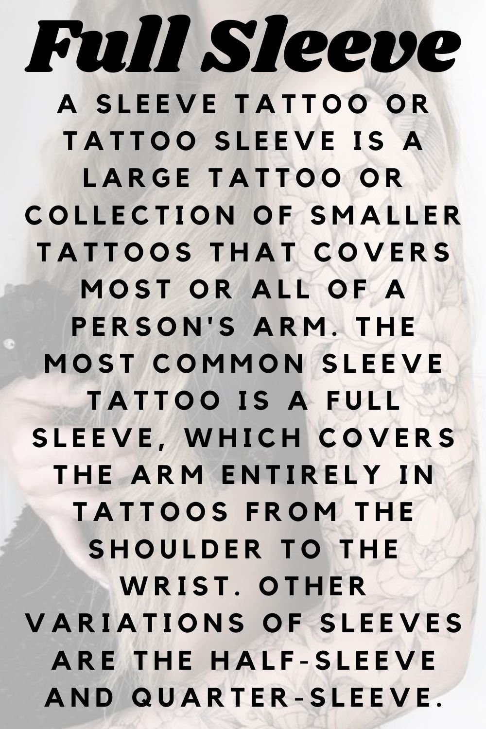 What is a Full Sleeve Tattoo