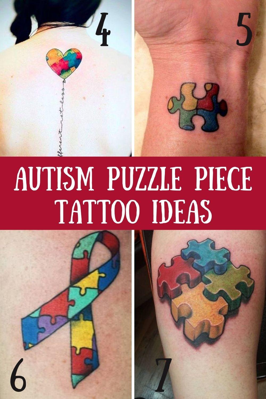 Autism Puzzle Tattoos