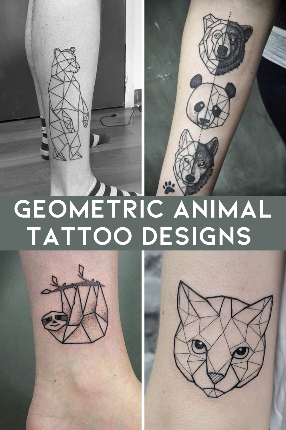 Geometric Animal Tattoos With Cool Designs