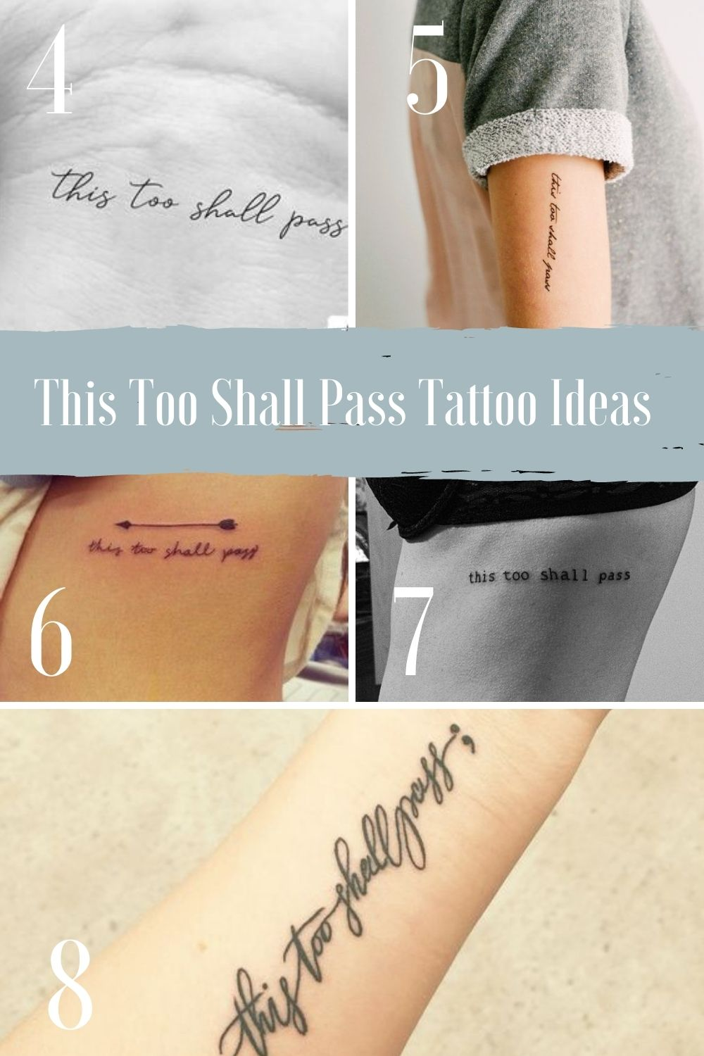 This too shall pass bible verse tattoo
