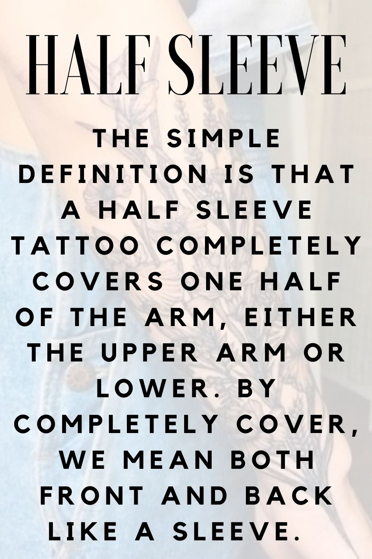 Half Sleeve tattoo Definition