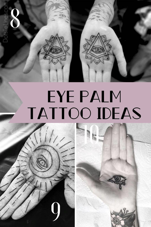 eye palm tattoos