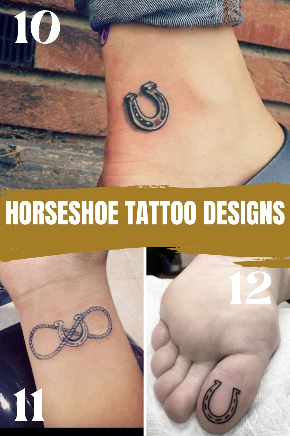 Small Horseshoe Ink Designs