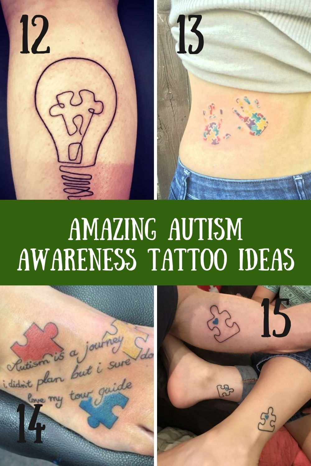Sweet awareness tattoos for autistic families