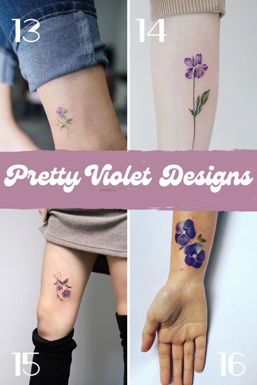 Pretty Violet Designs For Tattoos