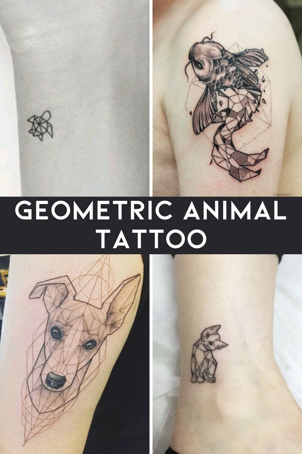 Small Geometric Animal Tattoo Ideas That Look Cute Anywhere