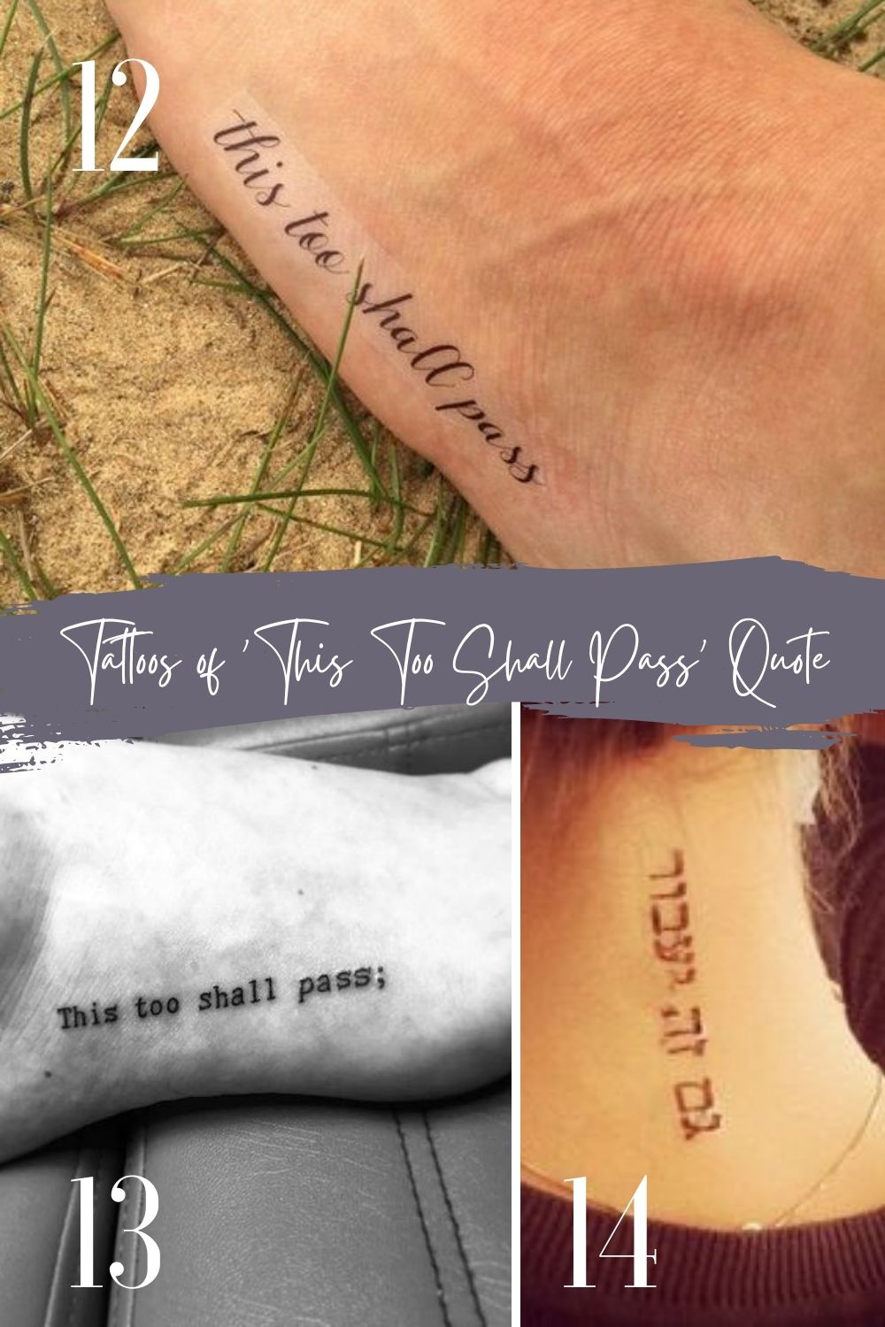This too shall pass tattoo Hebrew