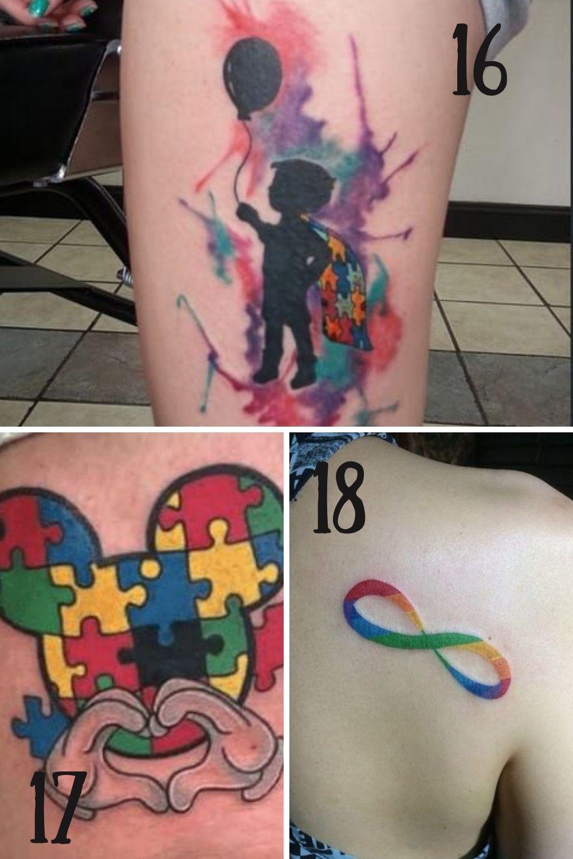 Kid Friendly Autism Tattoos