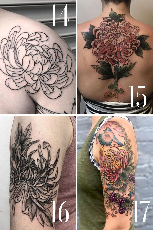 Large Chrysanthemum Tattoos