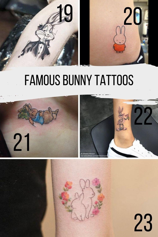 Famous Tattoo Ideas Of Bunnys