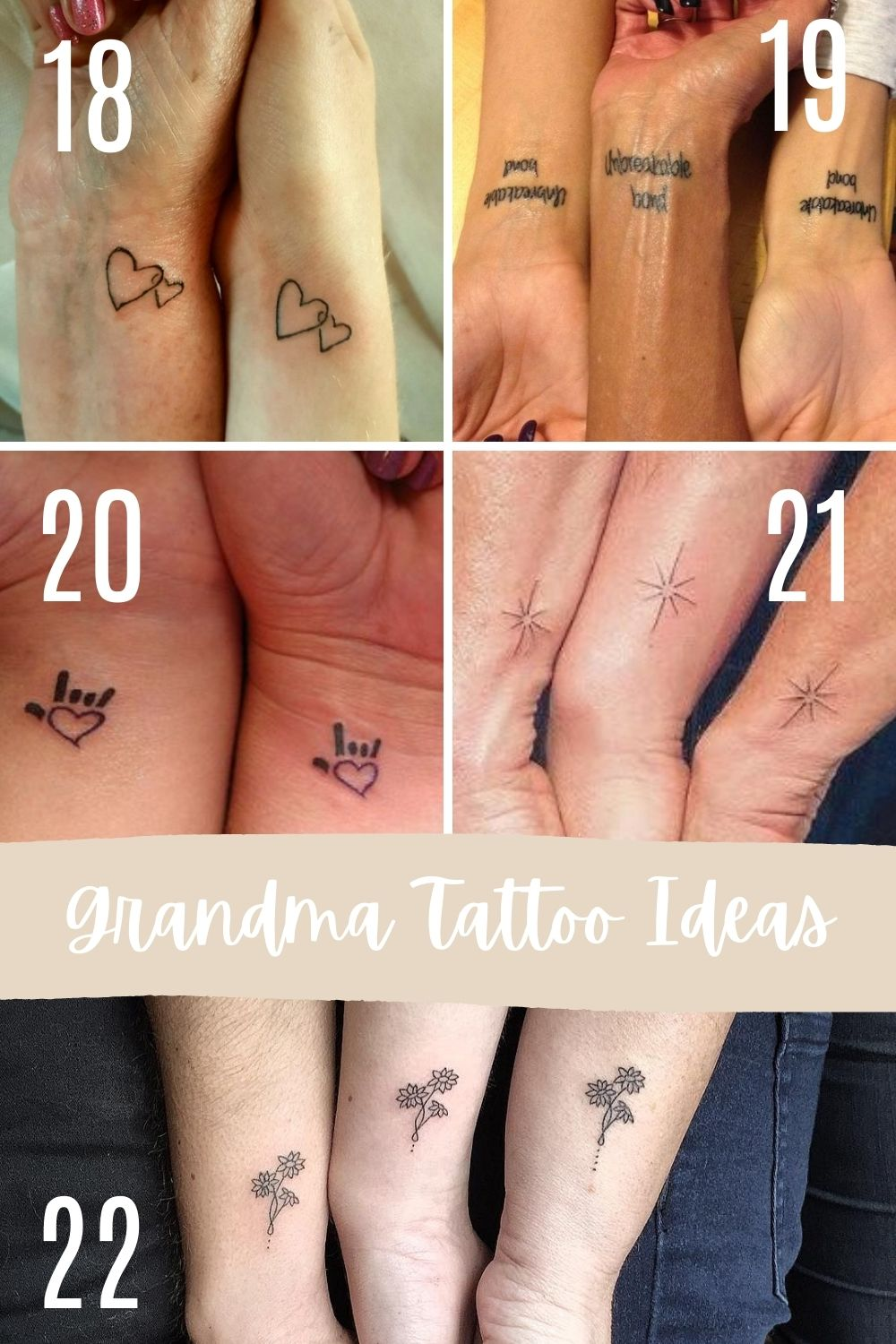 Matching Grandma Tattoos For Family