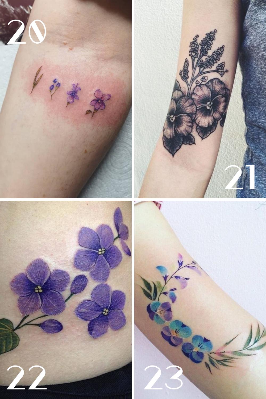 Purple Flower Tattoos