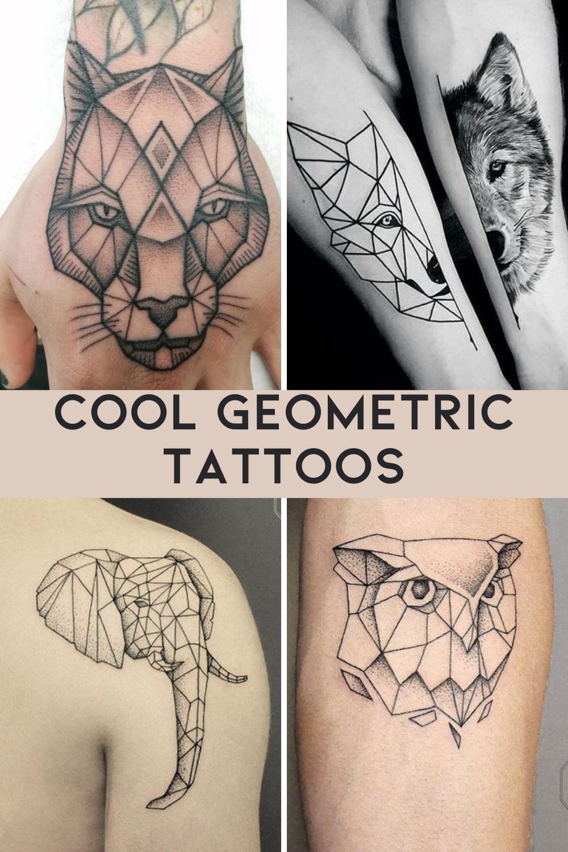 Linework Tattoos Of Animals