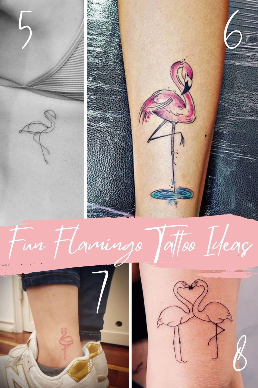 Flamingo Tattoo design