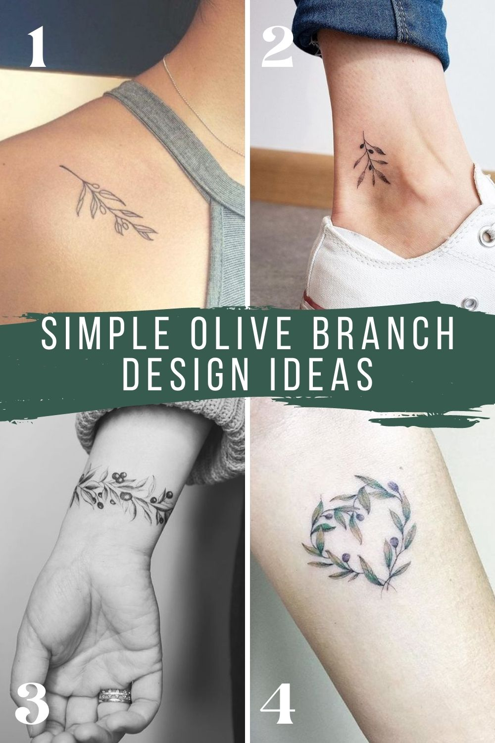 Simple Olive Branch Tattoo Designs
