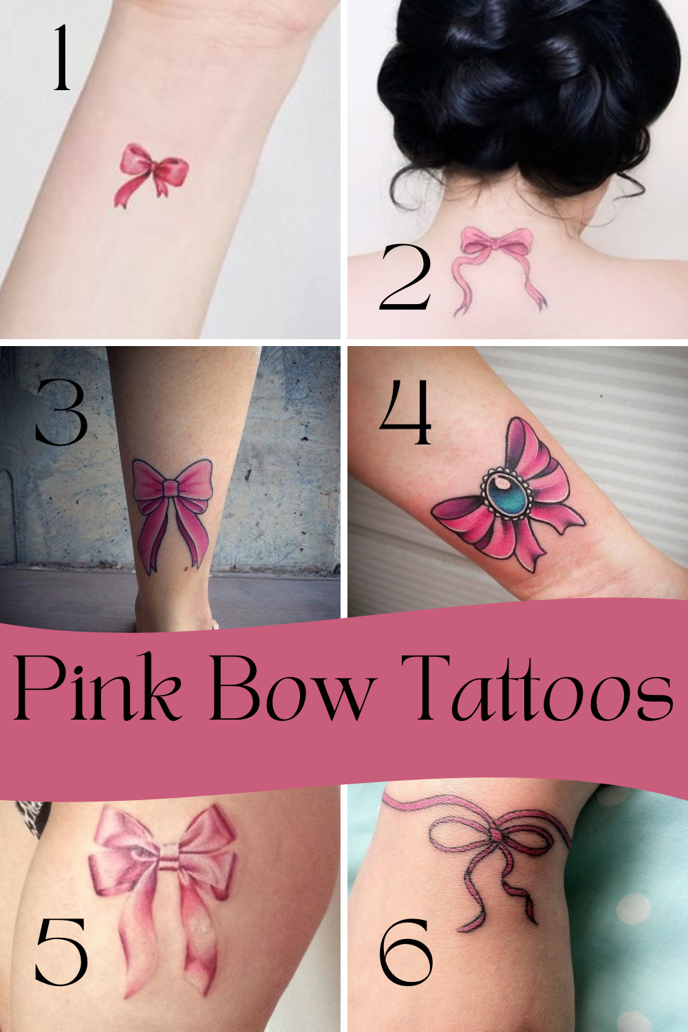 Pink Bow Tattoos