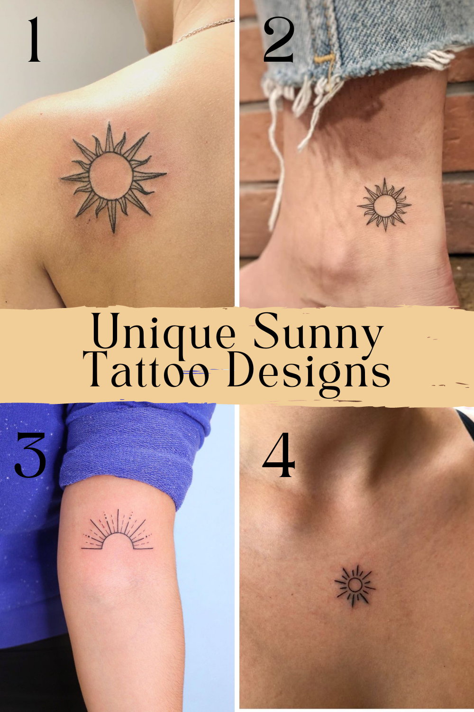 Unique Sun Tattoo Ideas