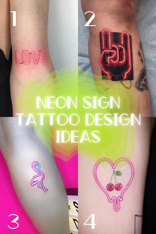 Neon Vegas Tattoo Ideas