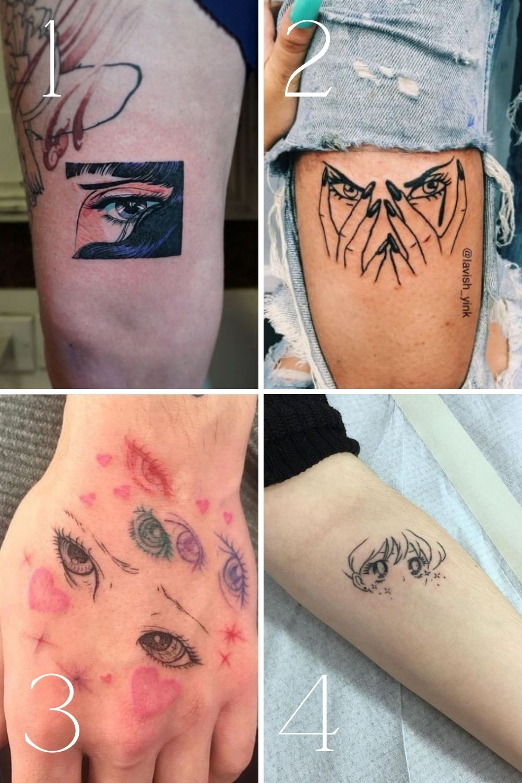 Creative Anime Eyes Tattoo Designs