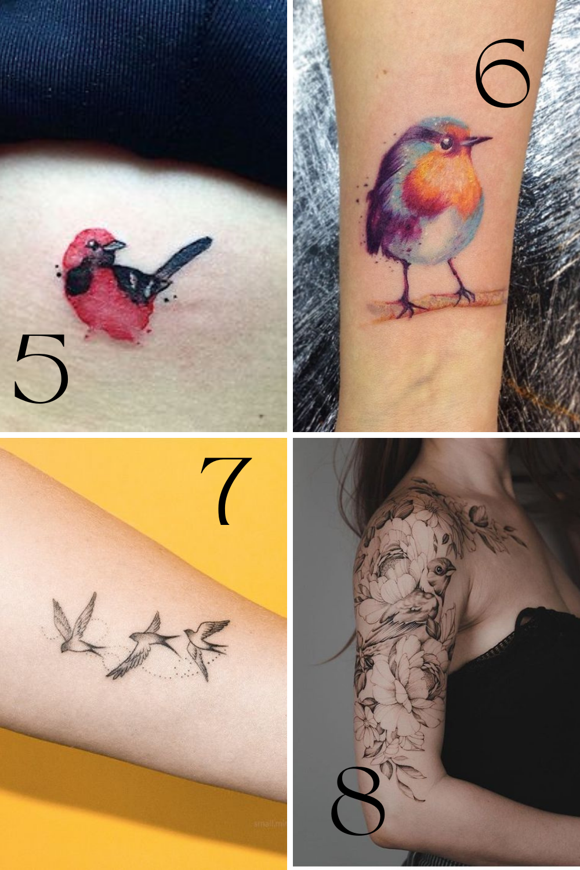 Arm Tattoos Birds